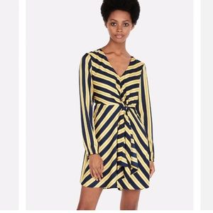 Express Dress with Blue & Gold Ribbon Stripes